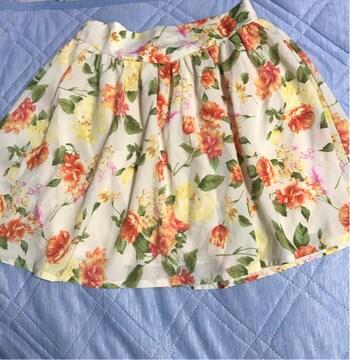 CLEF DE SOL花柄スカート