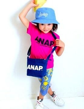 新品ANAPKIDS☆ロゴ ショルダーバッグ デニム アナップキッズ