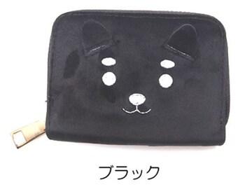 ¢M 可愛い柴犬デザイン ジャバラ式カードケース ブラック