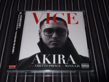 AKIRA『VICE』DVD付美品(M.O.S.A.D,EQUAL,MR.OZ,AK-69,EL LATINO