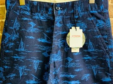 表記M/新品!フラガール&サーファー 総柄 ショートパンツ 女 カリフォルニアスタイル