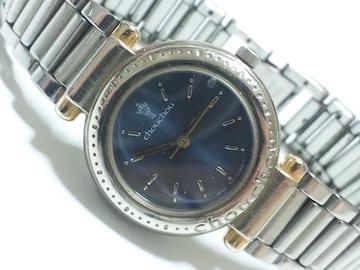 12477/chouchouお洒落なブルーダイヤル普段使いに★レディース腕時計