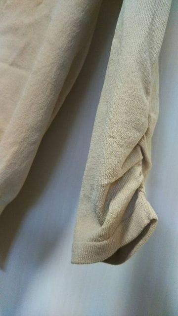 グラマラスガーデン★S-M七分袖ベージュカーディガンボレロ < 女性ファッションの