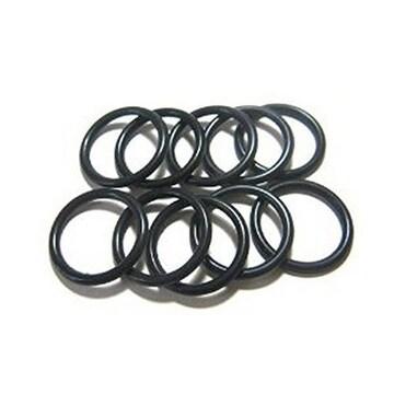 ラバーリング ゴムリング 指輪 Mサイズ(15号)黒5本SET