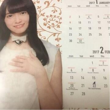即決 公式 乃木坂46 2017年度 個別卓上カレンダー 中元日芽香