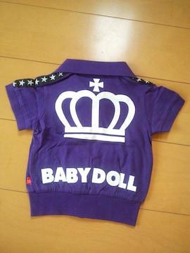 新品半袖ジャケット80紫ベビドBABYDOLLベビードール