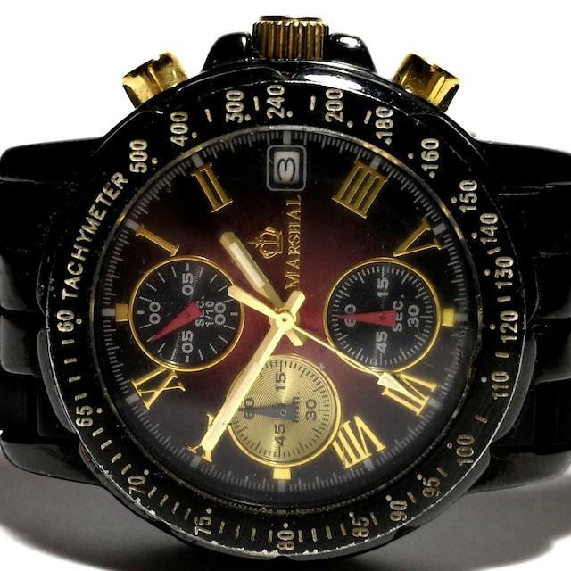 極レア 1スタ★MARSHAL【クロノグラフ】メンズ腕時計