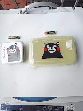 新品☆未開封♪くまモン、ランチボックス、ランチパック、お弁当箱2個セット