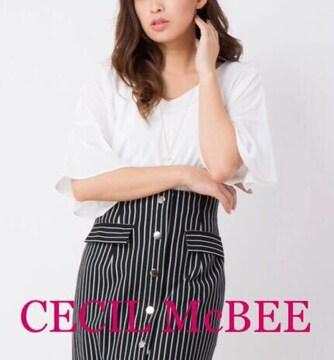 定価3,132円【タグ付き】CECIL McBEEネックレス付フレアトップス