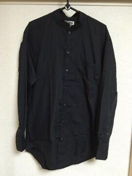 マオカラーシャツ ブラック 長袖 美品