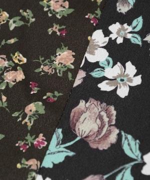 新品 マジェスティックレゴン 花柄切り替えスカート ブラック系 S