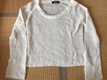 BACKS★かぎ編みニット セーター アイボリーF