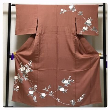 極上 単衣 スモールサイズ 特選 正絹 裄61 身丈150 訪問着 中
