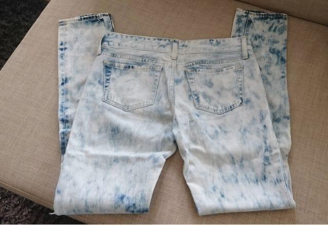 美品◇SLY jeans/スライ◇ダメージ加工デニム◇ストレート < ブランドの