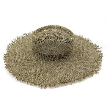 フリンジハット 帽子 ゆうパック 麦わら帽子