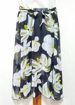 ♪新品♪花柄スカート♪裏地ショートパンツ付き♪ちょいセクシー