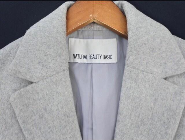美品☆NATURAL BEAUTY BASIC(ナチュラルビューティー)ロングチェスターコート☆ < ブランドの