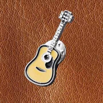 送料無料 アコースティックギター ブローチ ピンバッジ アコギ