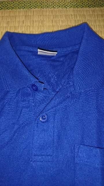 美品☆濃いブルー。男性半袖Tシャツ。Lサイズ。 < 男性ファッションの