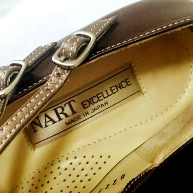 超美品!日本製本革NART / ナート23cmハイヒールパンプス < 女性ファッションの