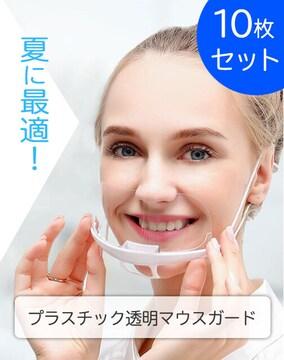 [送料無料] プラスチック 透明マスク【10枚 】