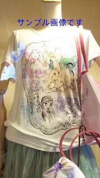 ディズニー TDS 15周年 パステル ミッキー & プリンセス Tシャツ M カットソー オフショルダー