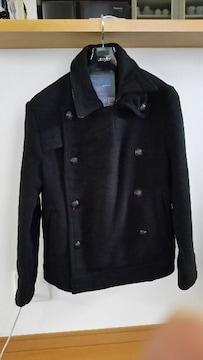 ウール 50% ピーコート ジャケット ネイビー L