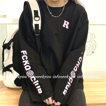 LL大きいサイズ/R袖ロゴTシャツ