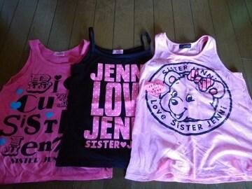 JN-袖なしTシャツ3点セット140