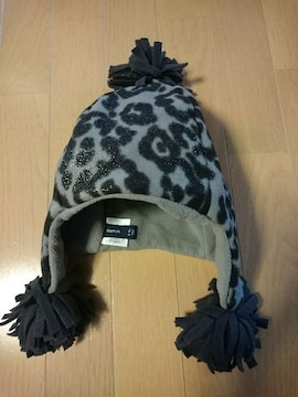GAPKidsギャップキッズ冬用帽子グレー/ヒョウ柄サイズL/XL54〜56�p58�p