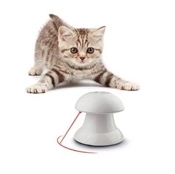 猫用光るおもちゃ 自動的に回転