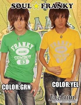 SOULFRANKY梅しゃん私物ラグビーFRANKYTシャツ/S