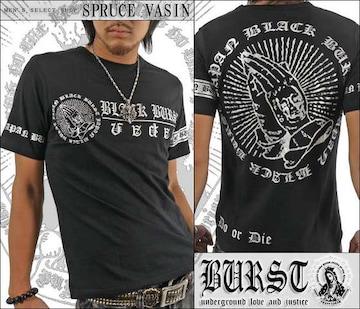 メール便送料無料【MAD BURST JAPAN】70532Tシャツ黒銀L