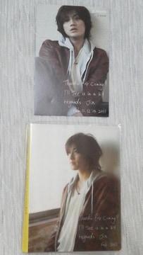 必見赤西仁 公式フォトアルバム+ポストカード セット未開封美品オマケ付