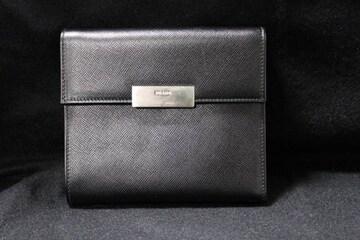 ☆プラダ☆ロゴプレート サフィアーノレザー 二つ折り財布