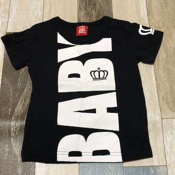 ∂+/BABY DOLL ロゴプリントTシャツ 90