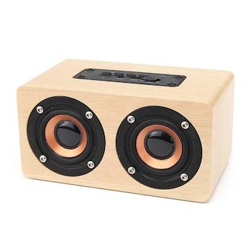 木製ブルートゥーススピーカー 10w 2000 mAh充電池
