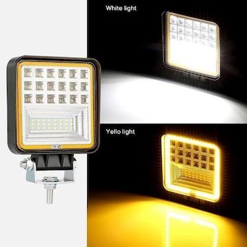 2個セット 防水45w白&黄 LEDエンジェルアイワークライト 作業灯