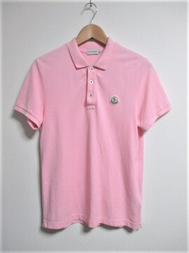 ☆MONCLER モンクレール ワッペン ポロシャツ 半袖/メンズ/S/ピンク☆国内正規品