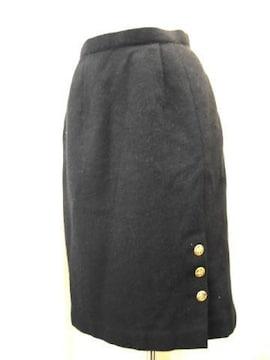 【GRAN YAMAKI】ゴールドボタン付黒スカート