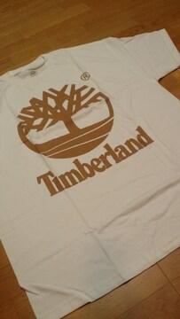 LA直輸入!TimberLandティンバーランド 白Tシャツ茶プリント サイズ2XLXXXL