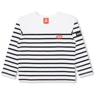 新品BABYDOLL☆110 ボーダー ロンT 白×黒 Tシャツ ベビードール