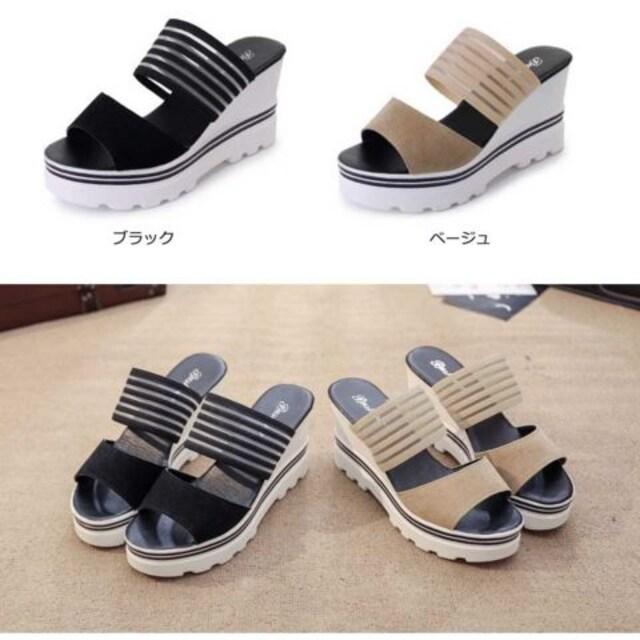 コンフォートサンダル 厚底 ミュール 靴 レディース スポーツサンダル スポサン 歩きやすい < 女性ファッションの
