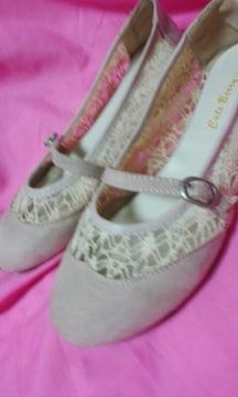 ペタンコ靴薄いピンク色LLサイズ