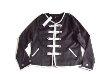 新品 定価13650円 ALEARA 黒 ナポレオン ジャケット ゴス
