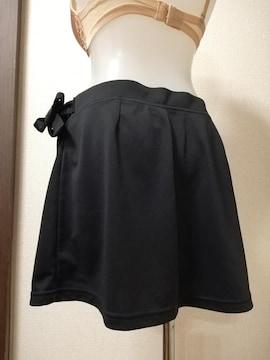 中古★kaepa テニススコート 巻きスカートタイプ 黒 L 競技用