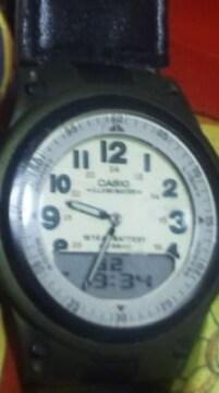 CASIOビンテージ腕時計アナログ+デジタルレトロ調