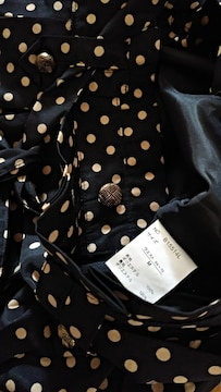 黒×ドットアイボリーベージュ ショートパンツ