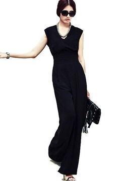 オールインワン ワイドパンツドレス(M寸・黒)