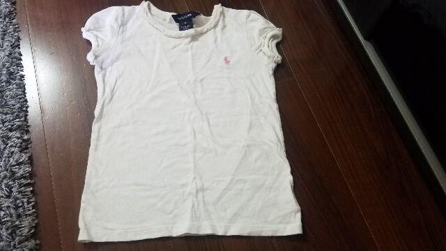 ★ラルフローレン★白Tシャツ★サイズ5★ < ブランドの